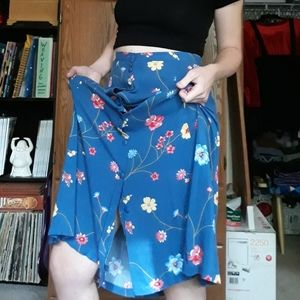 90s Floral Maxi Skirt